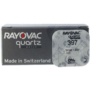 Rayovac 397 SR726SW 1.5V Silver Oxide Watch Battery